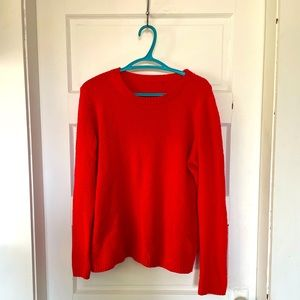 Tomato red knit sweater